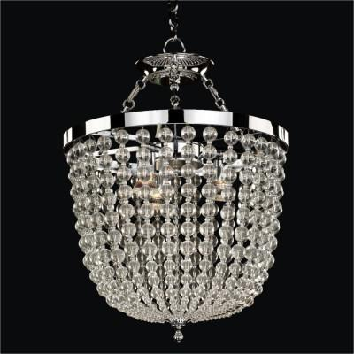 Round Smooth Crystal Chandelier / Semi Flush Mounts | Arcadia