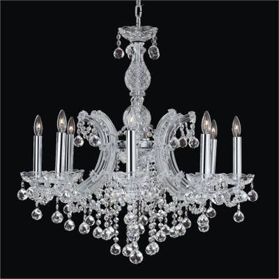 Faceted Ball 8 Light Maria Theresa Chandeliers