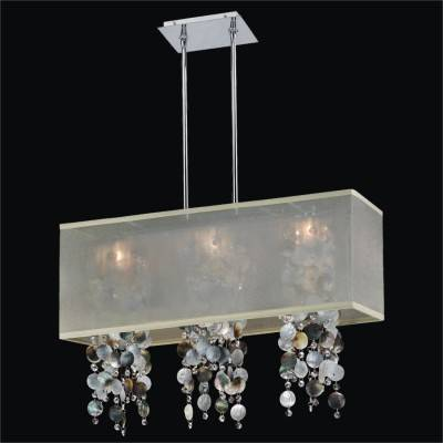 Shaded Dark Mother of Pearl Chandeliers | Omni