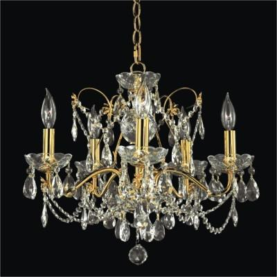 Metal Scroll Crystal Chandelier | Crown Jewel