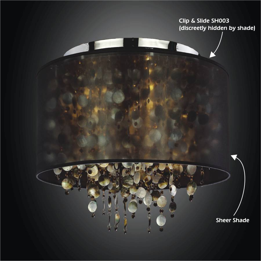 Add shade to a chandelier by GLOW Lighting