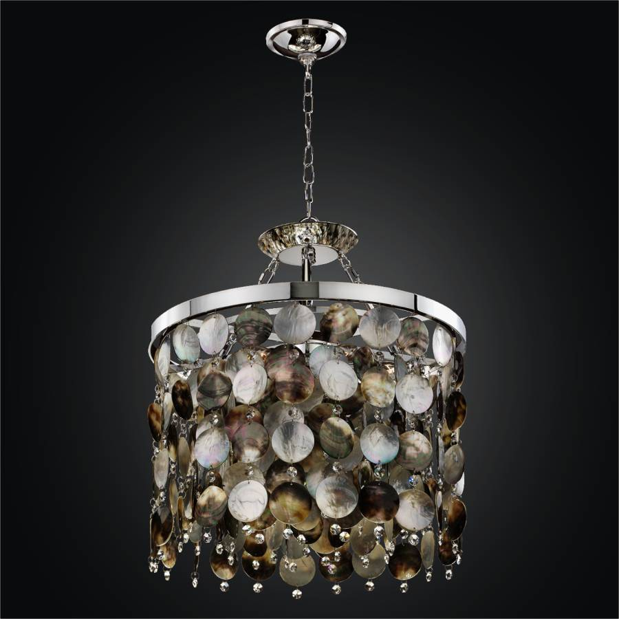 Mother of Pearl Shell Chandelier | Black Magic 586H by GLOW Lighting