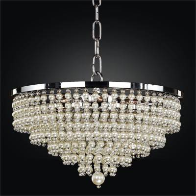 Beaded Pendant Light – Pearl Like Beads | Cava 639