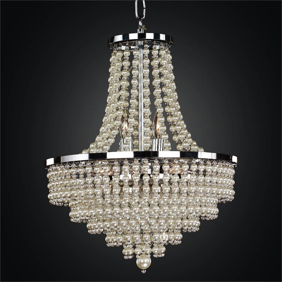 Pearl Chandelier Empire Style Cava 639nd16sp 7