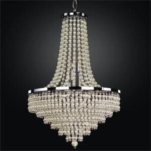 Pearl Chandelier - Empire Style Chandelier | Cava 639 by GLOW Lighting