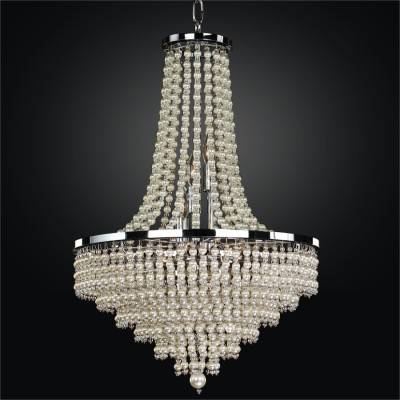 faux pearl beaded chandelier  shop  glow® lighting, Lighting ideas
