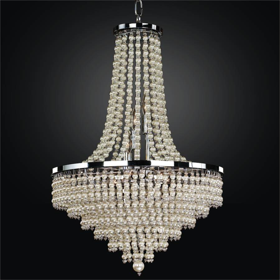 Pearl chandelier empire style chandelier cava 639 glow lighting pearl chandelier empire style chandelier cava 639 by glow lighting aloadofball Choice Image