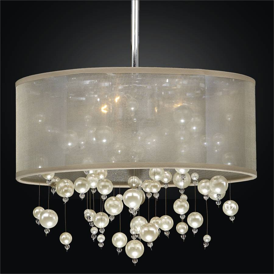 Drum Shade Chandelier Champagne 640nd15sp T 7