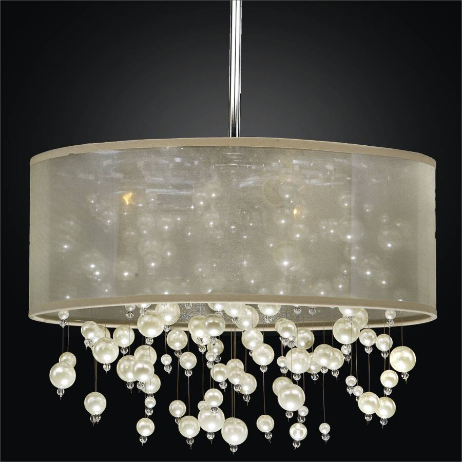 Drum Chandelier | Champagne 640 by GLOW Lighting