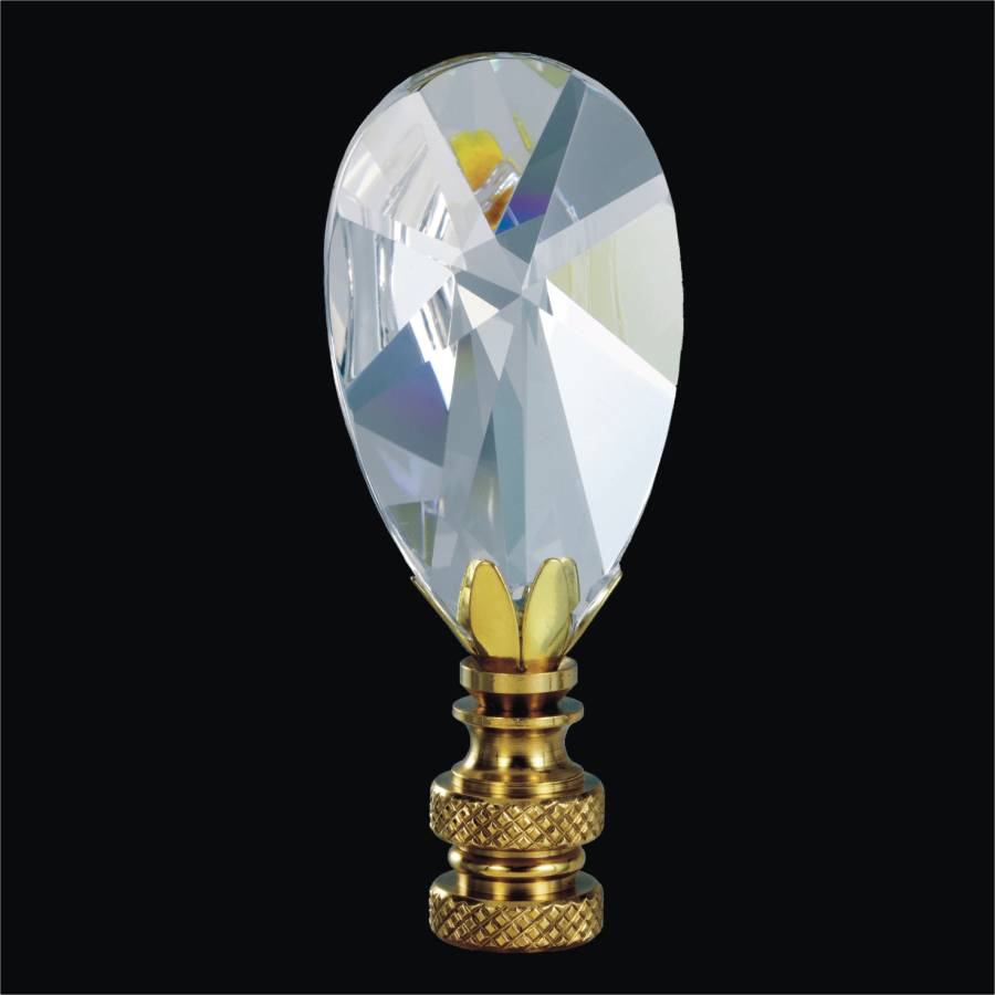 Decorative Lamp Finial - Almond | Finials by GLOW Lighting
