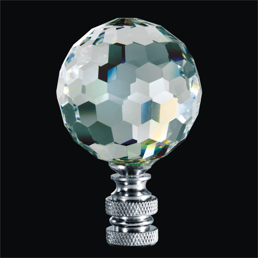 Lamp Finials - Crystal Ball | Finials by GLOW Lighting