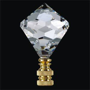 Crystal Lamp Finial - Diamond Shape | Finials by GLOW Lighting