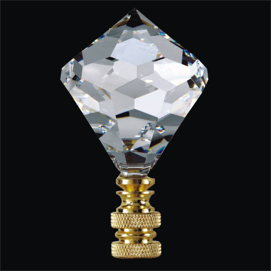 2 Diamond Crystal Finials For Lamps Fn8560 40 50mm Height