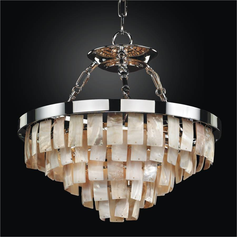 Oyster Chandelier | La Jolla 619 by GLOW Lighting