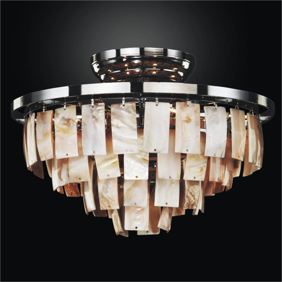 Shell Flush Mount Light | La Jolla 619 by GLOW Lighting