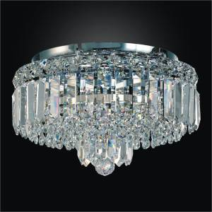 Flush Mount Crystal Ceiling Light | Madison 552 by GLOW Lighting