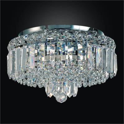 Crystal flush mount with crystal band madison 552
