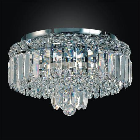 Crystal Flush Mount with Crystal Band | Madison 552 by GLOW Lighting