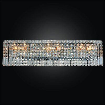 Crystal Wall Sconce with Crystal Band | Madison 552