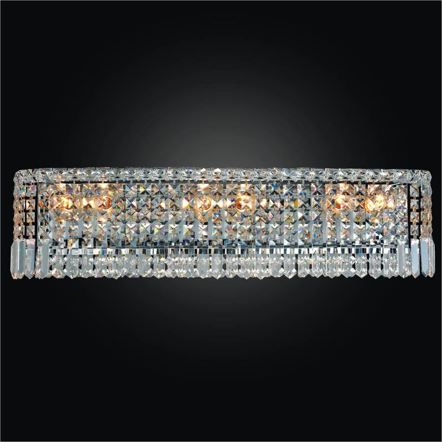 Crystal Vanity Light Fixture | Madison 552 by GLOW Lighting