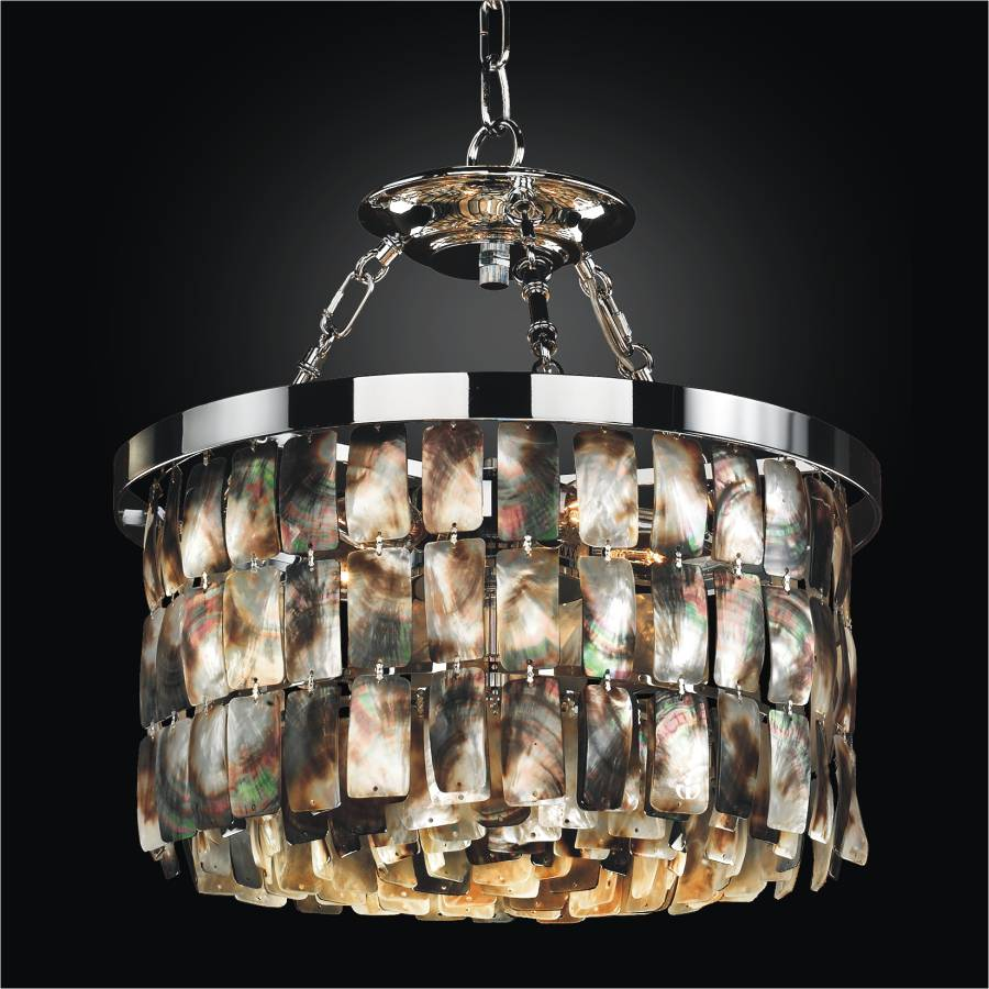 Mother of Pearl Pendant Light | Malibu 618 by GLOW Lighting