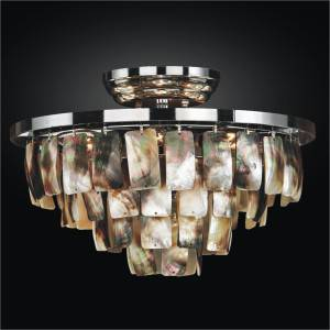Small Ceiling Light - Mother of Pearl Shell | Malibu 618 by GLOW Lighting