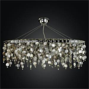 Oval Chandelier – Mother of Pearl Chandelier | Midnight Pearl 582