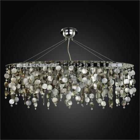 Oval Chandelier - Mother of Pearl Chandelier | Midnight Pearl 582 by GLOW Lighting