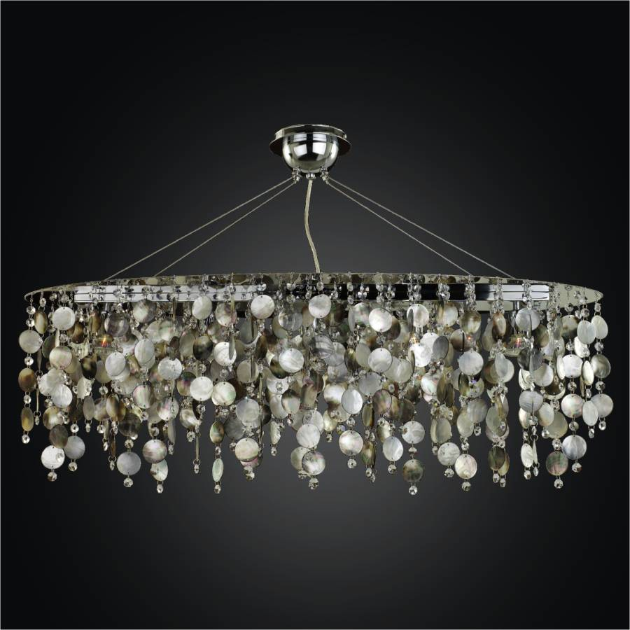 Oval Chandelier   Mother Of Pearl Chandelier | Midnight Pearl 582 By GLOW  Lighting