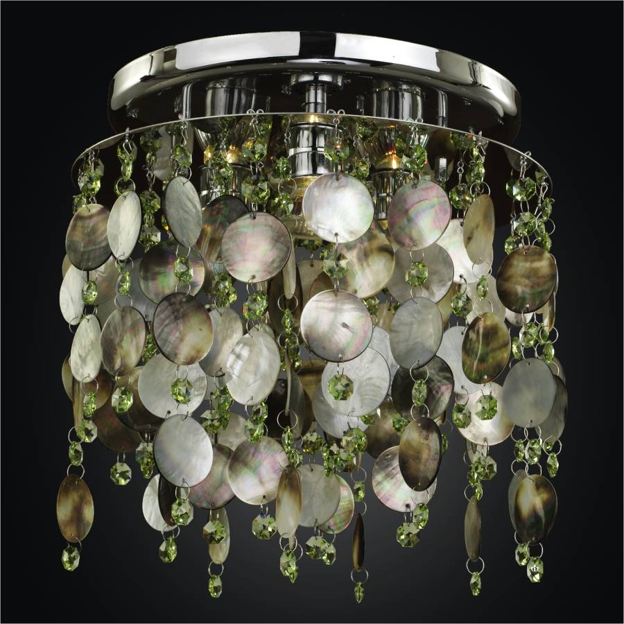 Mother of Pearl Ceiling Light | Midnight Pearl 582SC3LSP-9LP