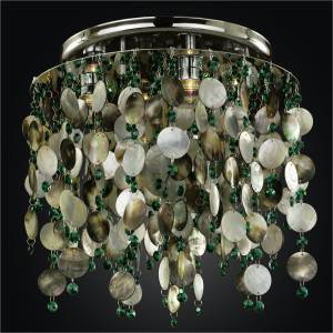 Mother of Pearl Ceiling Light | Midnight Pearl 582 by GLOW Lighting