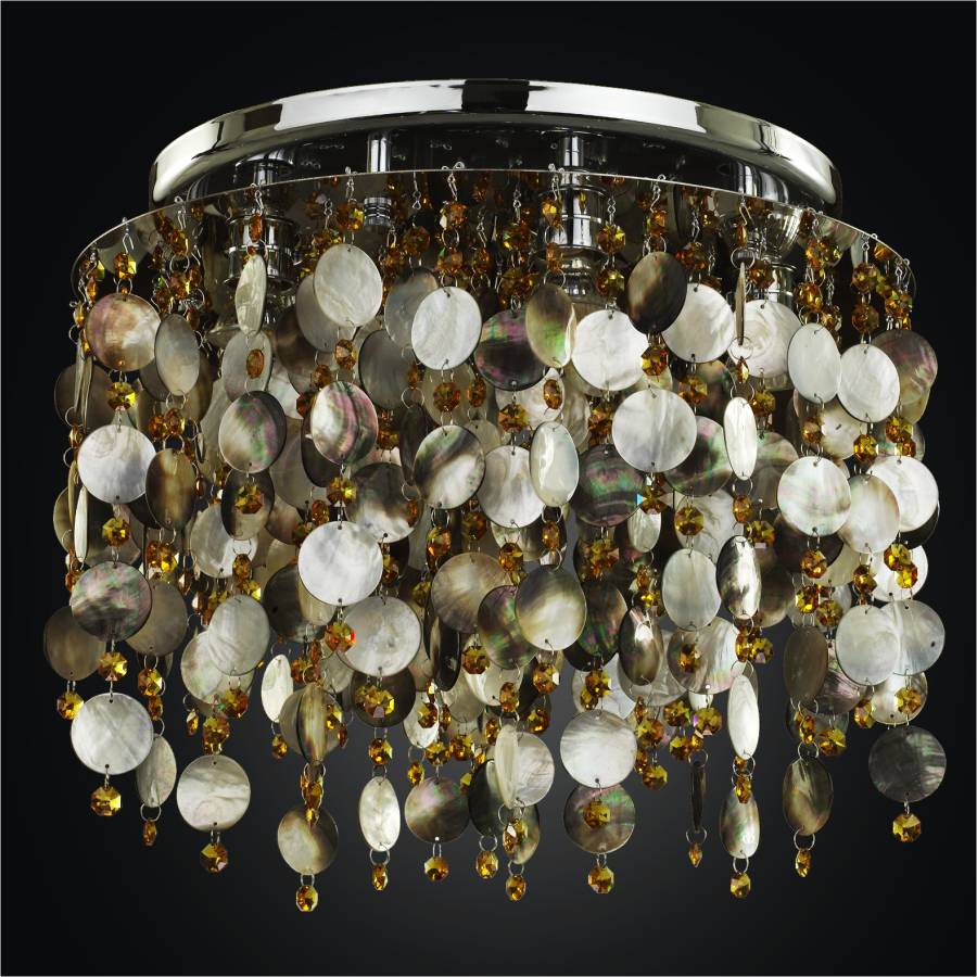 Mother of Pearl Ceiling Light | Midnight Pearl 582SC5LSP-9T
