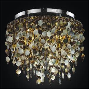 Mother of Pearl Light Fixture | Midnight Pearl 582 by GLOW Lighting
