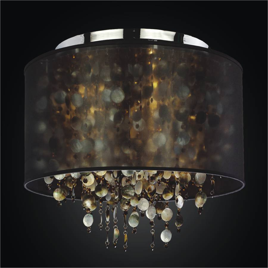 Large Drum Shade Ceiling Light | Midnight Pearl 582by GLOW Lighting
