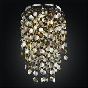 Shell Lighting Fixture | Midnight Pearl 582 by GLOW Lighting