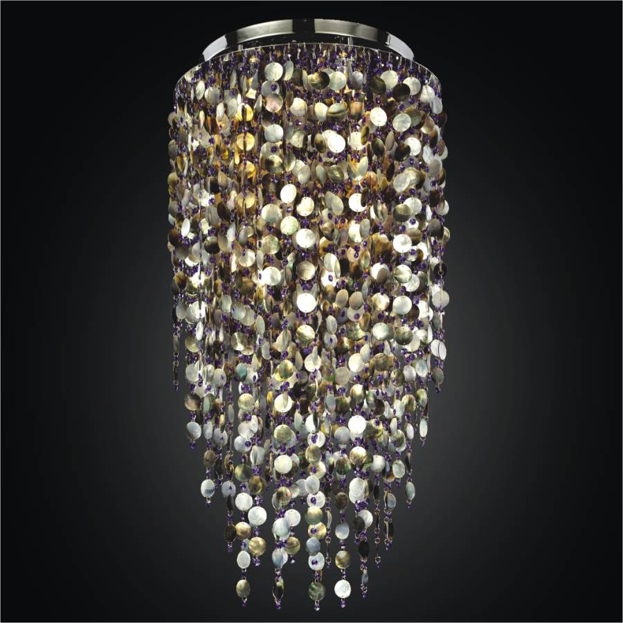 Large Shell Chandelier | Midnight Pearl 582 by GLOW Lighting