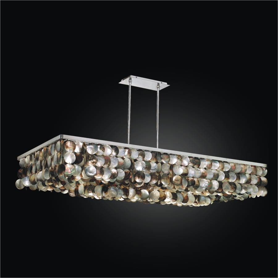 Large Rectangular Chandelier with Mother of Pearl | Montego Bay 633QD52SP