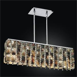 Linear Chandelier - Mother of Pearl Chandelier | Moon Beams 631 by GLOW Lighting