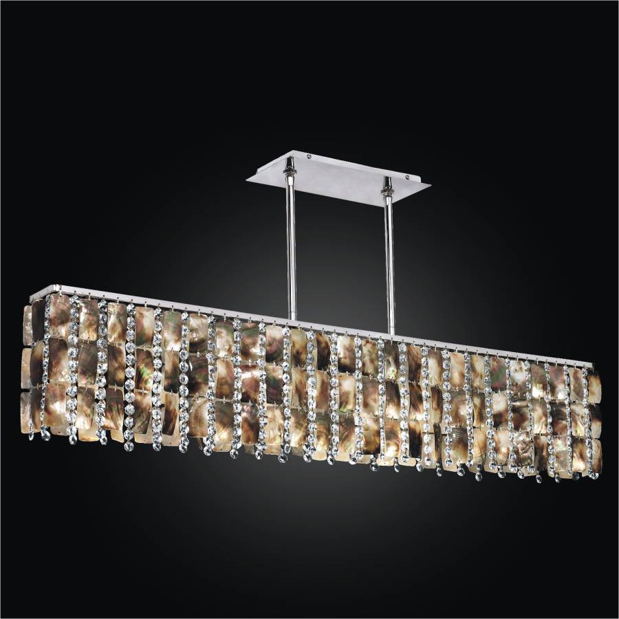 ... Linear Chandelier   Mother Of Pearl Chandelier | Moon Beams 631 By GLOW  Lighting