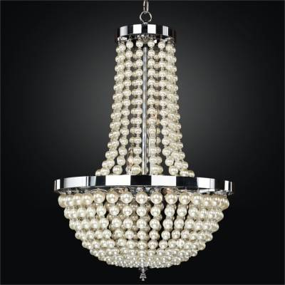 Empire Style Chandelier – Pearl Like Beads | Moscato 642