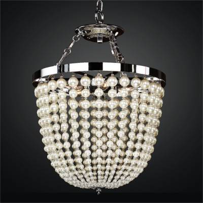 Lustrous Pearl Bead Chandeliers / Semi Flush Mounts | Moscato 642