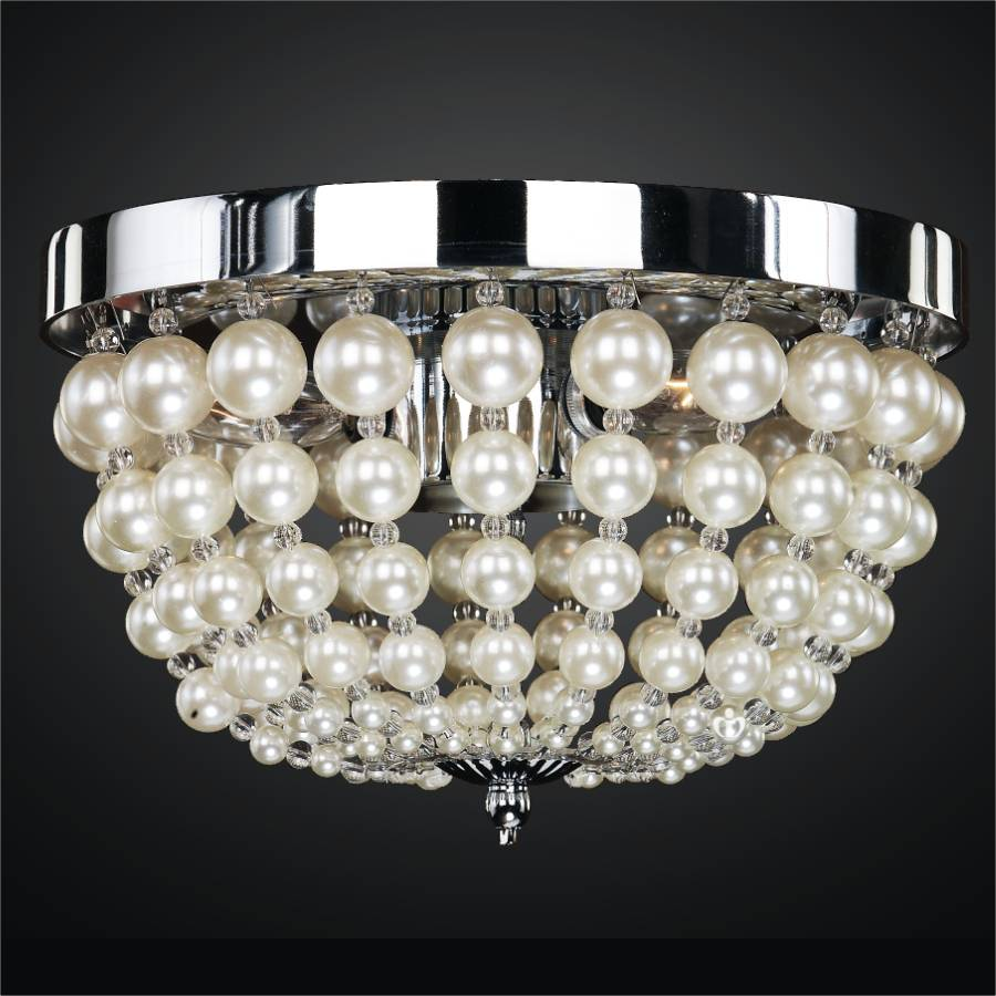 Moscato pearl bead flush mount by GLOW Lighting