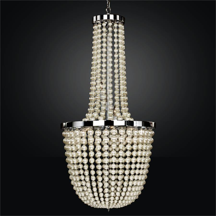 Moscato pearl bead foyer chandelier by GLOW Lighting