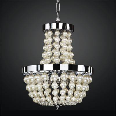 Beaded Mini Chandelier – Pearl Like Beads | Moscato 642