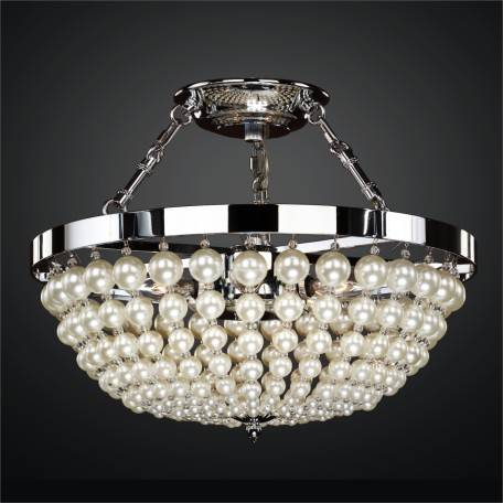 Semi Flush Ceiling Light – Pearl Like Beads | Moscato 642 by GLOW Lighting
