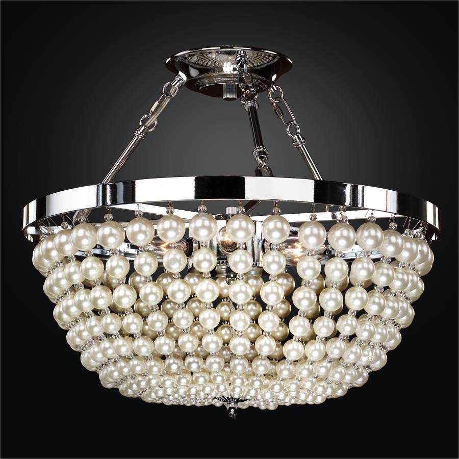 Beaded Semi Flush Mount | Moscato 642 by GLOW Lighting