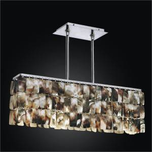 Linear Chandelier – Mother of Pearl Light Fixture | Night Shades 622