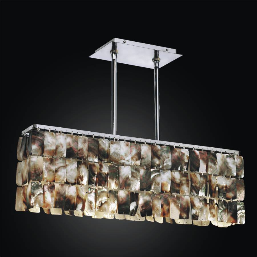 Linear Chandelier U2013 Mother Of Pearl Light Fixture | Night Shades 622