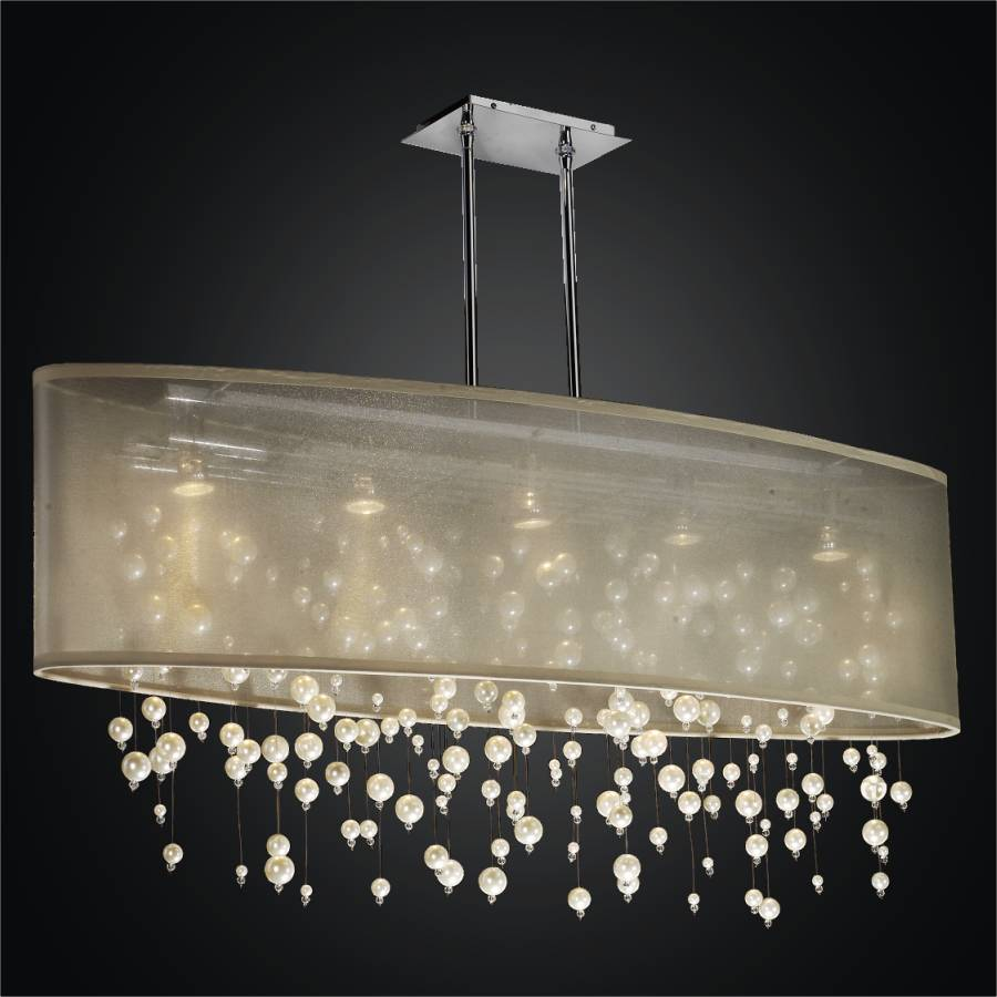 Oval Drum Chandelier | Prosecco 646 by GLOW Lighting