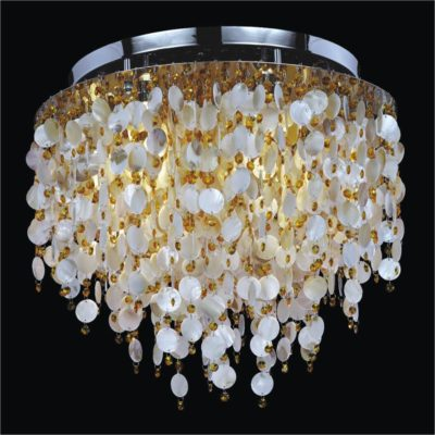 Large Ceiling Light – Oyster Shell Light Fixture | Seaside Dreams 578